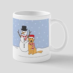 Let It Snow Golden Retriever Mug
