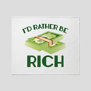 I'd Rather Be Rich Stadium Blanket