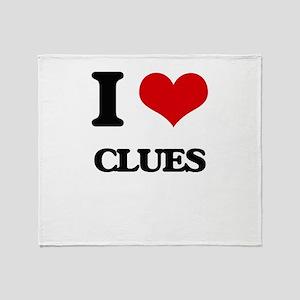 I love Clues Throw Blanket