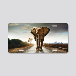The Elephant Aluminum License Plate
