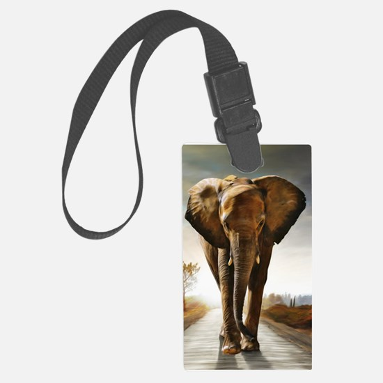 The Elephant Luggage Tag