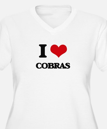 I love Cobras Plus Size T-Shirt