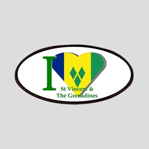 I Love St Vincent & The Grenadines Patches