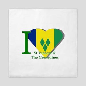 I Love St Vincent & The Grenadines Queen Duvet