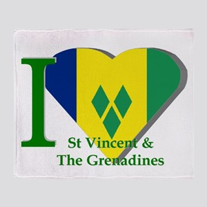 I Love St Vincent & The Grenadines Throw Blank