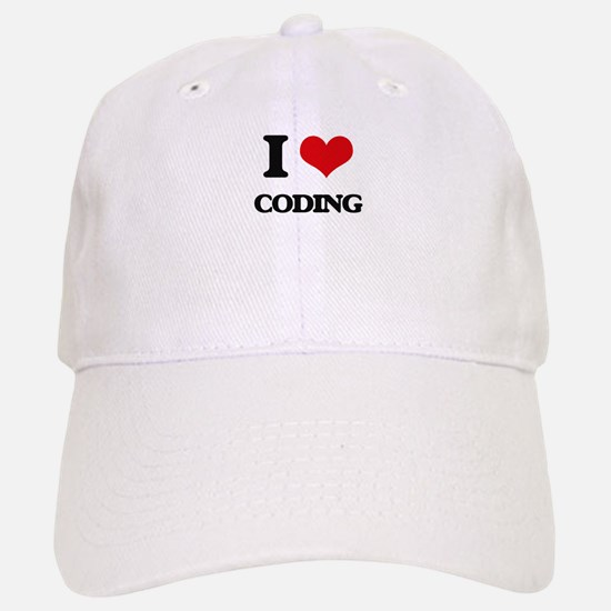 I love Coding Baseball Baseball Cap