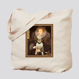 Queen Elizabeth I & Bull Terrier Tote Bag
