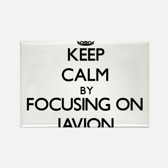 Keep Calm by focusing on on Javion Magnets