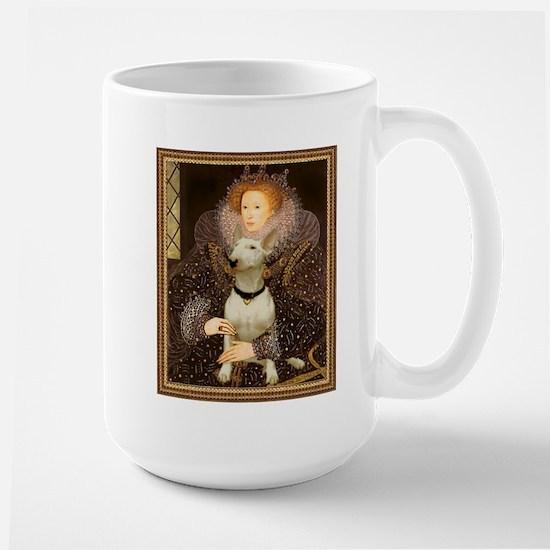 Queen Elizabeth I & Bull Terrier Large Mug