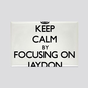 Keep Calm by focusing on on Jaydon Magnets
