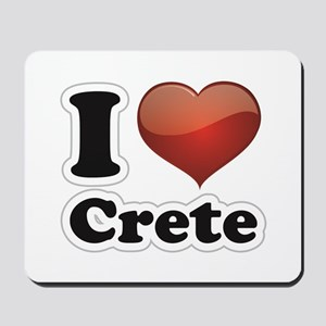 I Love Crete Mousepad