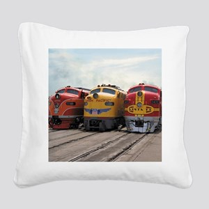 Three Diesels 1989 Square Canvas Pillow