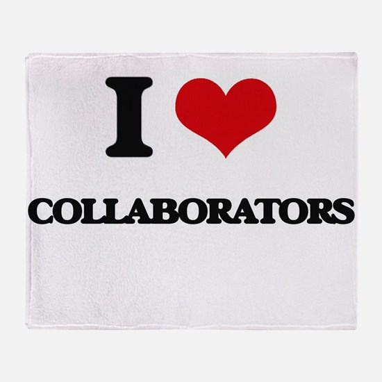 I love Collaborators Throw Blanket