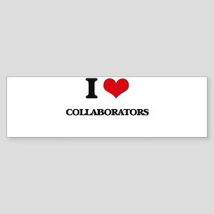 I love Collaborators Bumper Sticker