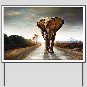 The Elephant Yard Sign