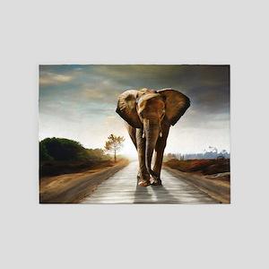The Elephant 5'x7'Area Rug
