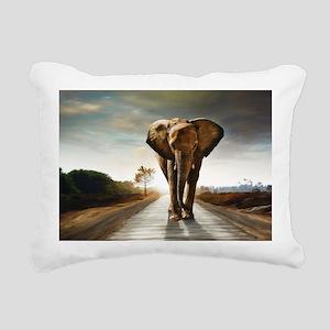 The Elephant Rectangular Canvas Pillow
