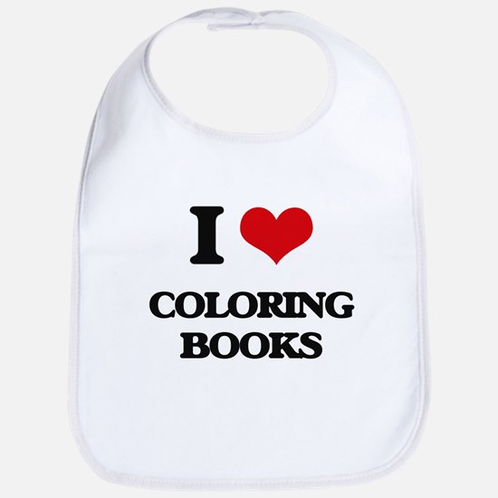 I love Coloring Books Bib