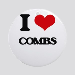 I love Combs Ornament (Round)