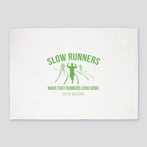Slow Runners 5'x7'Area Rug