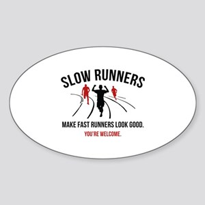 Slow Runners Sticker (Oval)
