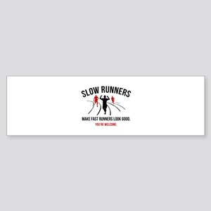 Slow Runners Sticker (Bumper)