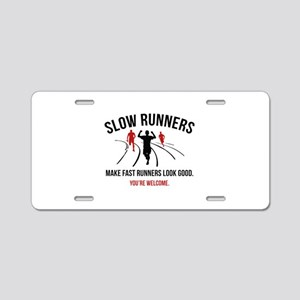 Slow Runners Aluminum License Plate