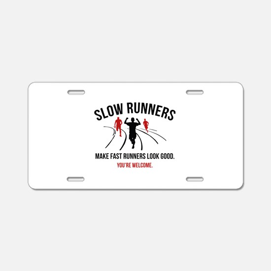 Slow Runners Aluminum License Plate