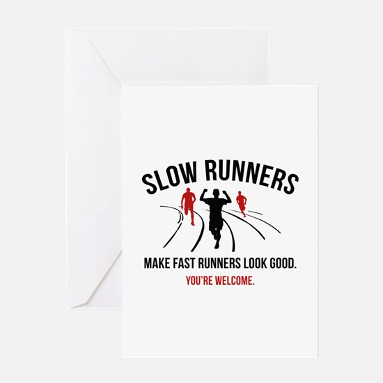 Slow Runners Greeting Card