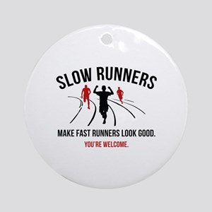 Slow Runners Ornament (Round)