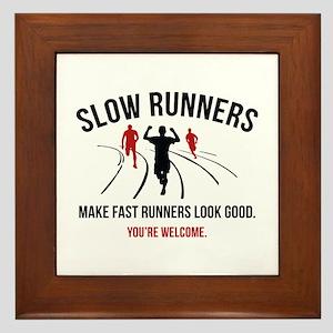 Slow Runners Framed Tile