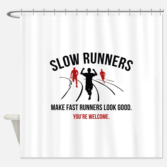 Slow Runners Shower Curtain