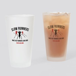 Slow Runners Drinking Glass