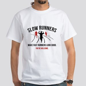Slow Runners White T-Shirt