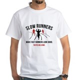 Funny running Mens Classic White T-Shirts