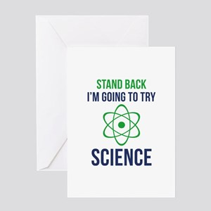 I'm Going To Try Science Greeting Card