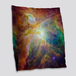 Chaos In Orion Burlap Throw Pillow