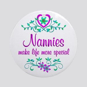 Special Nannie Ornament (Round)