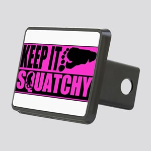 Keep it squatchy Pink Rectangular Hitch Cover