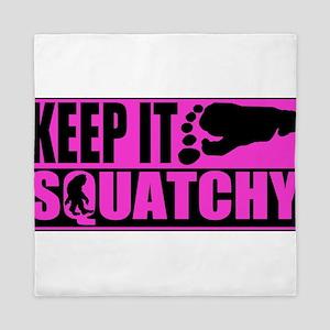 Keep it squatchy Pink Queen Duvet
