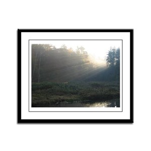 Adk Sunrise Framed Panel Print