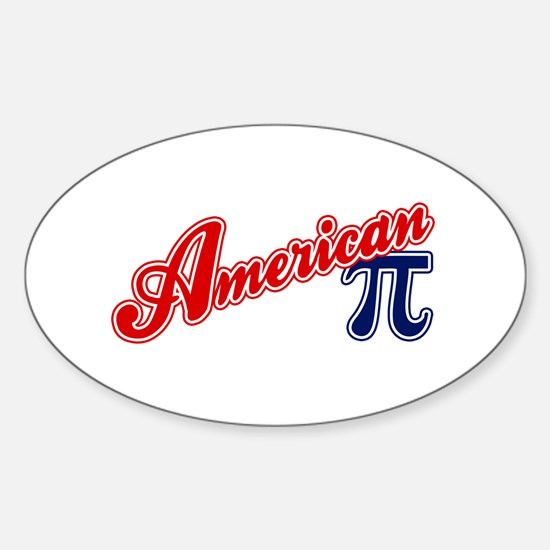 American Pi Oval Decal