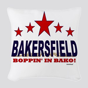 Bakersfield Boppin' In Bako Woven Throw Pillow