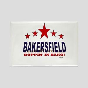 Bakersfield Boppin' In Bako Rectangle Magnet