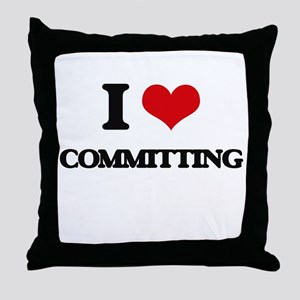I love Committing Throw Pillow