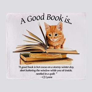 A good book is... Throw Blanket