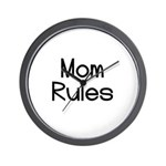 Mom Rules Wall Clock
