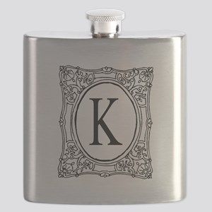 Name Initial Monogram Flask For Men And Women
