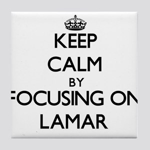 Keep Calm by focusing on on Lamar Tile Coaster