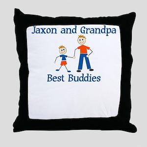 Jaxon & Grandpa - Best Buddie Throw Pillow